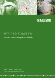DIVIDED FORESTS: - Rainforest Foundation UK