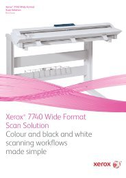 Xerox® 7740 Wide Format Scan Solution Colour and black and ...