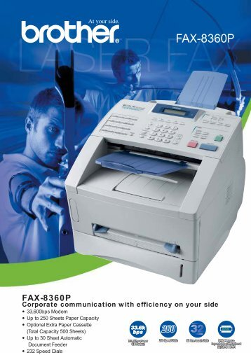 FAX-8360P Corporate communication with efficiency on ... - Rais LTD