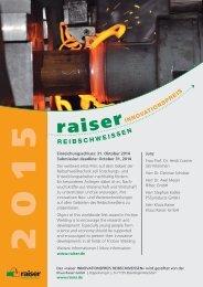 Flyer - Klaus Raiser GmbH