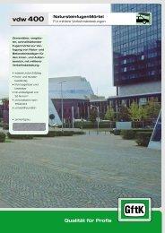 Datenblatt vdw 400.pdf - Raiss Baustoffe: Home