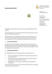 Kurzinformation des Versorgungswerks Berlin 2013 | PDF