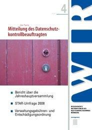 Mitteilung des Datenschutz - Rechtsanwaltskammer Nürnberg
