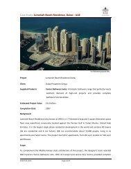 Jumeirah Beach Residence, Dubai - UAE - RAK Ceramics