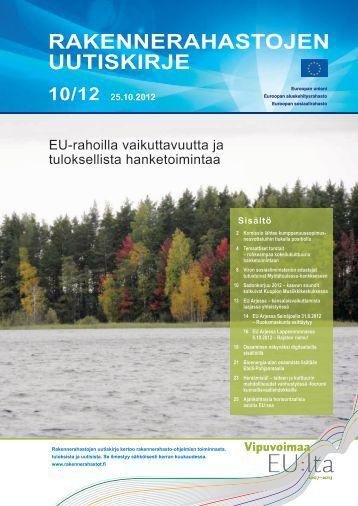 Rakennerahastojen uutiskirjeessä 10/12 - Rakennerahastot.fi