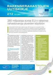 Rakennerahastojen uutiskirje nro 2/12 23.2.2012 - Rakennerahastot.fi