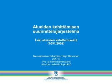 Alueiden kehittämisen suunnittelujärjestelmä - Rakennerahastot.fi