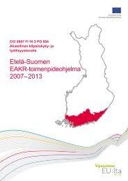 Etelä-Suomen EAKR-toimenpideohjelma 2007-2013 (pdf)