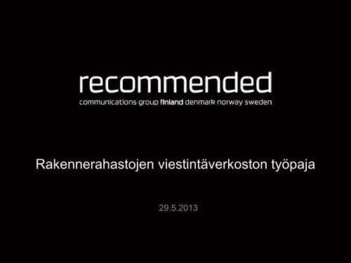 Ohjelmakauden 2014 - 2020 viestinnän suunnittelu
