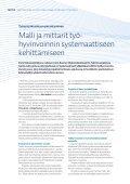 Malli ja mittarit työhyvinvoinnin systemaattiseen kehittämiseen - Page 2