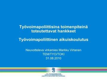 Työvoimapoliittinen koulutus - Rakennerahastot.fi
