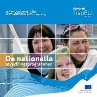 De nationella utvecklingsprogrammen - Rakennerahastot.fi