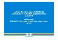 Artikla 13 paikan päällä tehtävät tarkastukset TUKI2000 ...