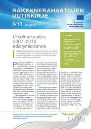 uutiskirje 3/2013 - Rakennerahastot.fi