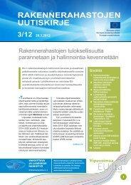 Rakennerahastojen uutiskirje nro 3 /12 29.3.2012 - Rakennerahastot.fi