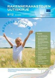 Rakennerahastojen uutiskirje 29.8.2012 - Rakennerahastot.fi