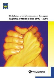 Matkalla tasa-arvon ja kumppanuuden Eurooppaan - Equal-esite