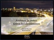 Avoimen ja jaetun tiedon hyödyntäminen - Rakennerahastot.fi