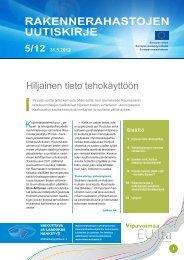Rakennerahastojen uutiskirje nro 5/12 31.5.2012 - Rakennerahastot.fi