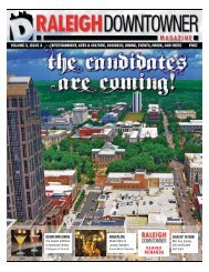 downtown dining nightlife - Raleigh Downtowner