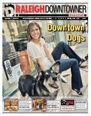 Raleigh Downtowner Magazine: Volume 7 Issue 6 - Downtown Dogs