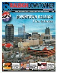 Raleigh Downtowner Magazine: Downtown Raleigh - A Year in ...