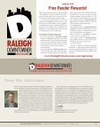 Raleigh Downtowner Magazine: Downtown Raleigh - A Year in ... - Page 7