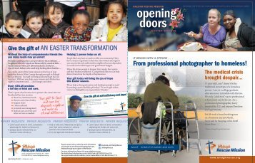 February 2012 Opening Doors Newsletter - Raleigh Rescue Mission