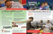 November Opening Doors Newsletter - Raleigh Rescue Mission