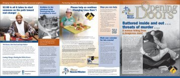 October 2011 Opening Doors Newsletter - Raleigh Rescue Mission