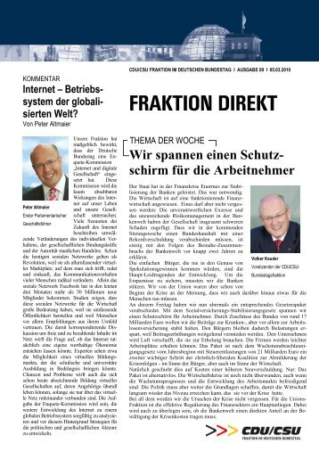 Fraktion direkt - Dr. Ralf Brauksiepe