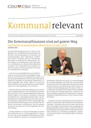 Kommunal relevant April 2013 - Peter Götz MdB