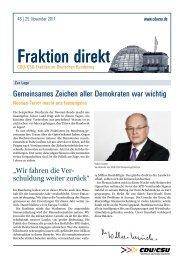 Fraktion direkt - Ausgabe 48 vom 25.11.2011