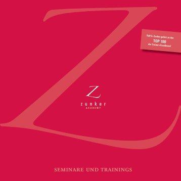 seminare und trainings - Ralf Zunker M.A.