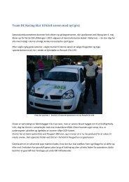 Nyt fra Team DC-Racing - Rallycross info