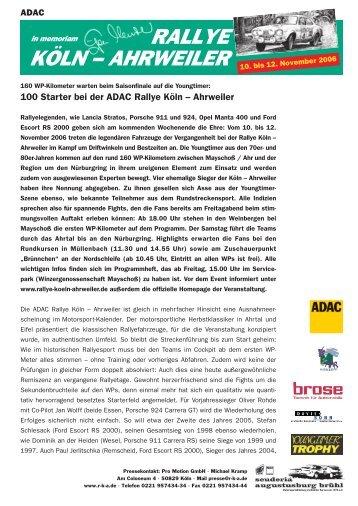 Presseinfo 2 (pdf) - Rallye Köln-Ahrweiler