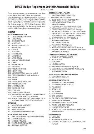 DMSB-Rallye-Reglement 2014 für Automobil ... - Rallye Hohenlohe