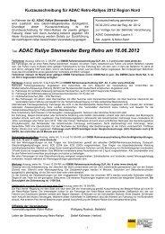 Titel: ADAC Rallye Stemweder Berg Retro am 16.06.2012