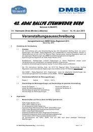 43. ADAC Rallye Stemweder Berg