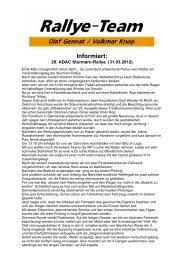 Informiert: - Rallye Frieg
