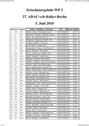 Zwischenergebnis WP 3 27. ADAC/vcb-Rallye-Berlin ... - rallye200-info