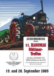 Ausschreibung zum 11. Hanomag Oldtimer-Treffen - Rallyeschilder de