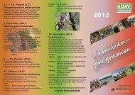Flyer Familienprogramm 2012 - DAV - Hochsauerland
