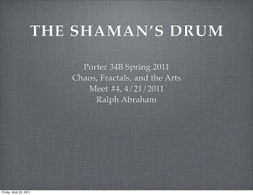 THE SHAMAN'S DRUM - Ralph Abraham