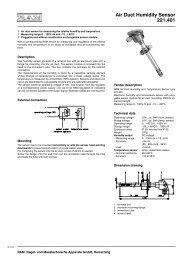 Air Duct Humidity Sensor 221.401