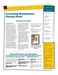 Learning Academies Parent Post