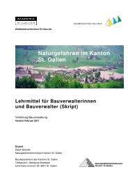 Naturgefahren im Kanton St. Gallen