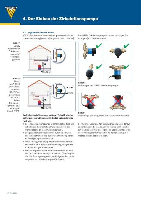 4. Der Einbau der Zirkulationspumpe