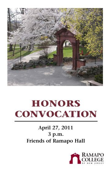 Honors Convocation 04 - Ramapo College of New Jersey