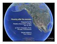 Housing after the recovery - REALTORS® Association of Maui, Inc.